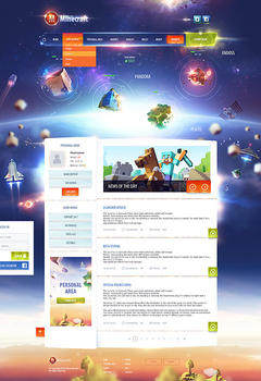 Minecraft Planet Game Website Template